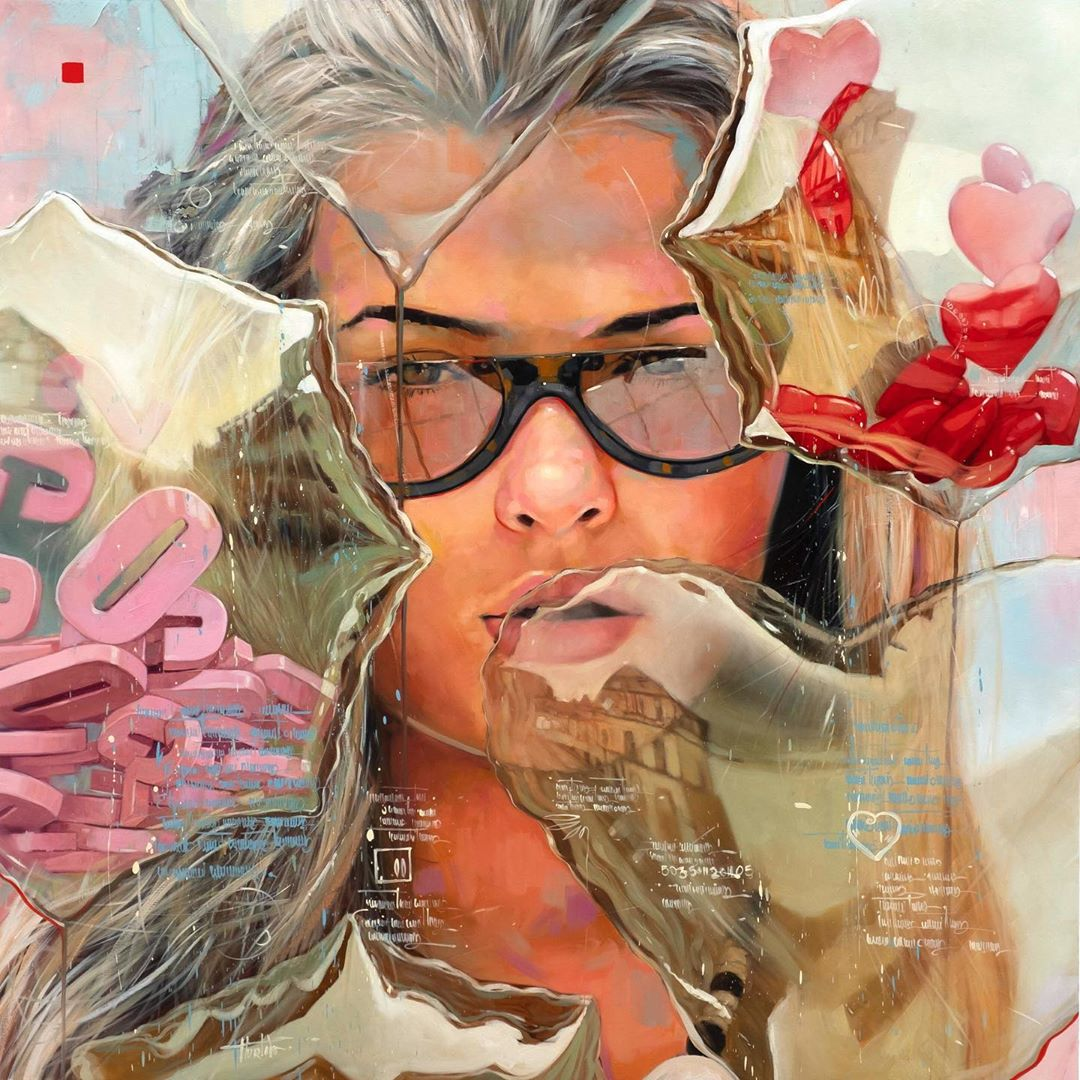 painting woman surreal by yunior hurtado torress