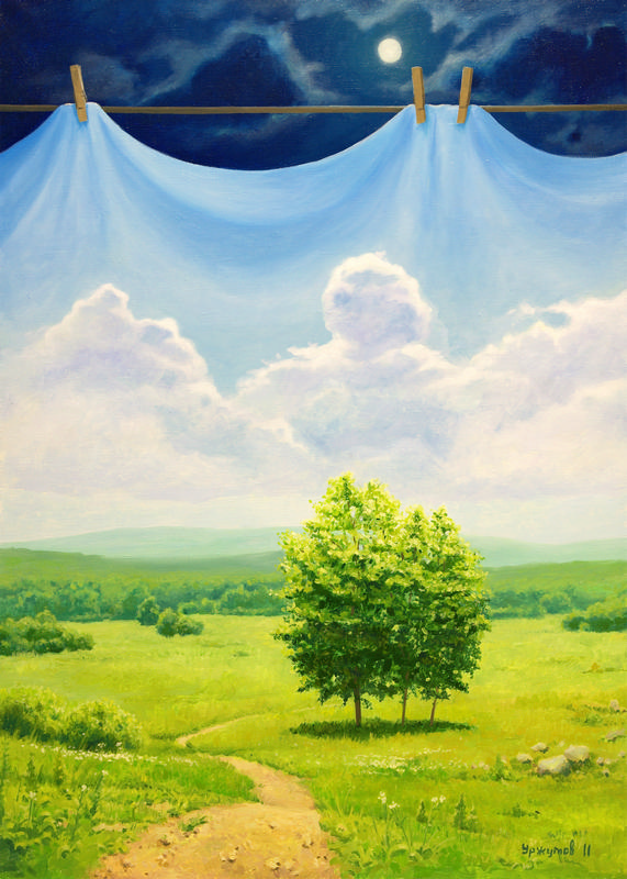 13 surreal oil painting world stage by vitaly urzhumov