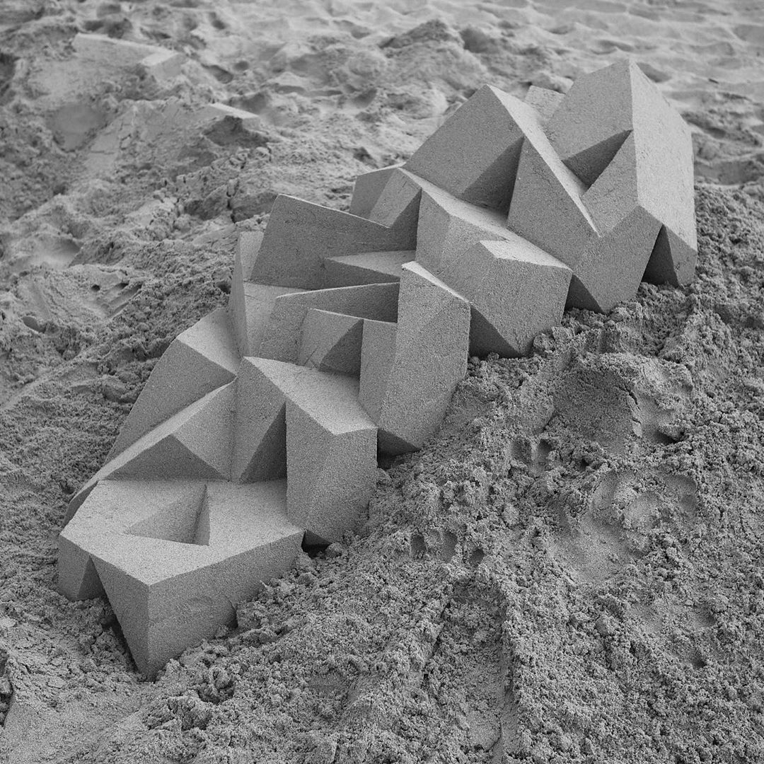 sand sculpture abstract by calvin seibert