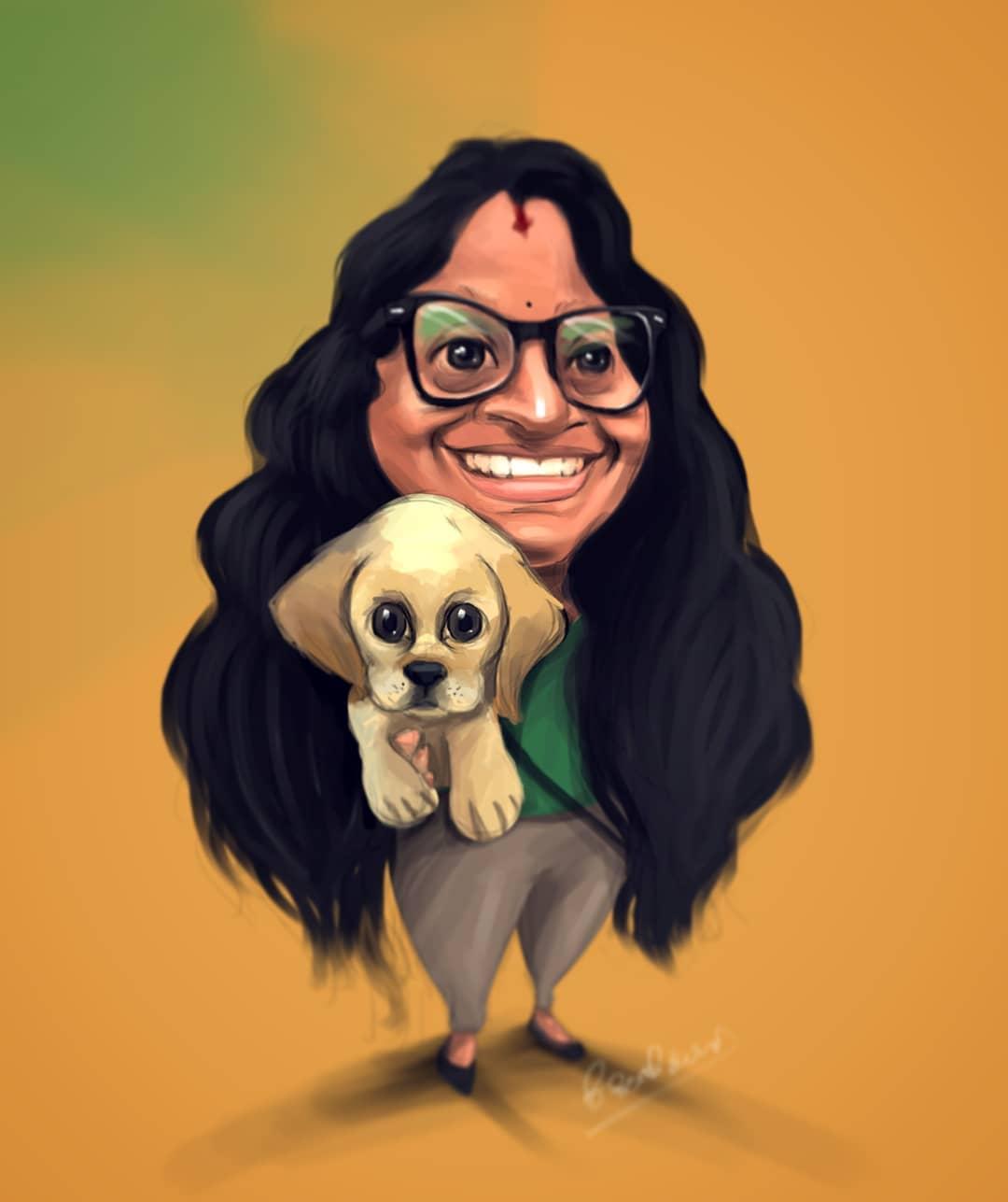 caricature kumba by karan acharya