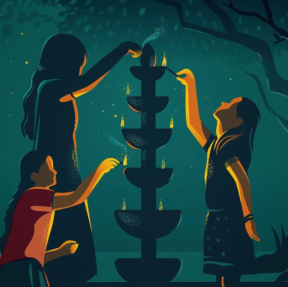 digital illustration lamp lighting by ranganath krishnamani