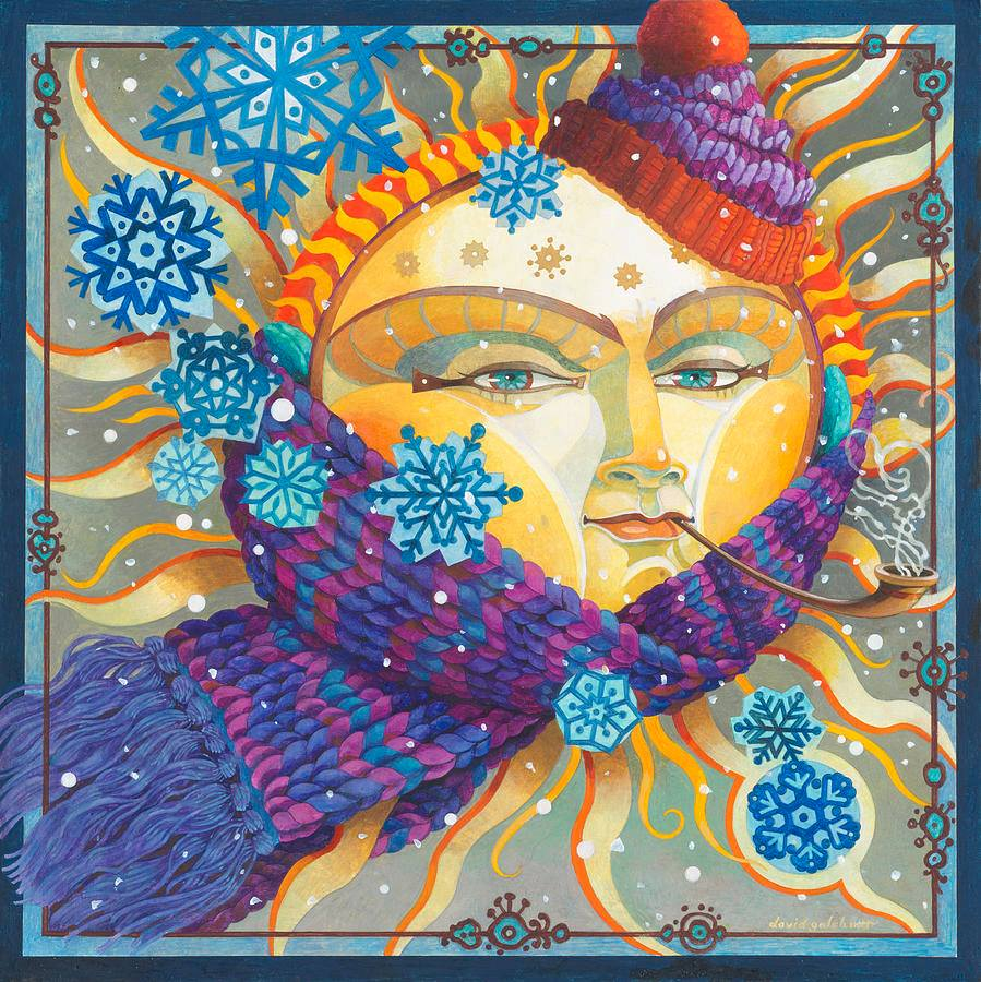 surreal oil painting cold sun by david galchutt