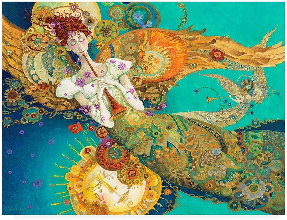 surreal oil painting mermaid by david galchutt