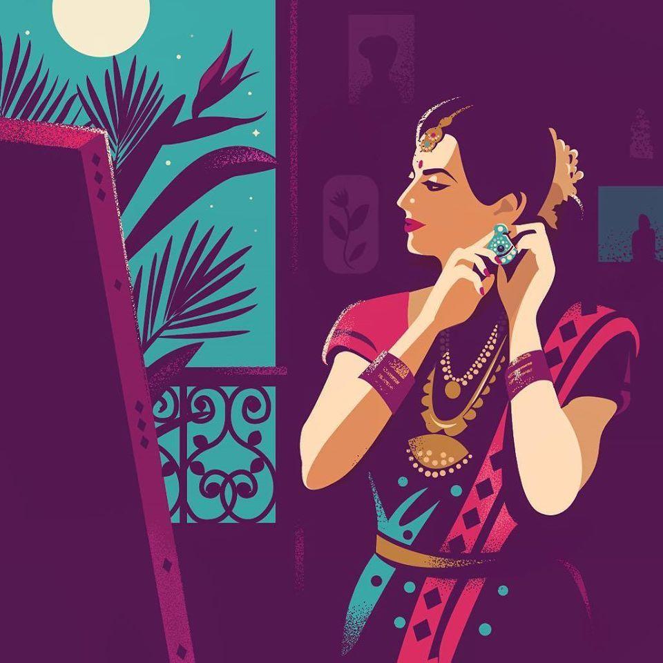 digital illustration bride by ranganath krishnamani