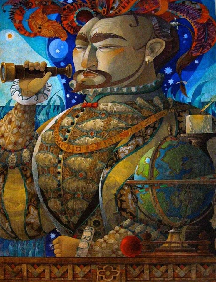 surreal oil painting seaman by david galchutt