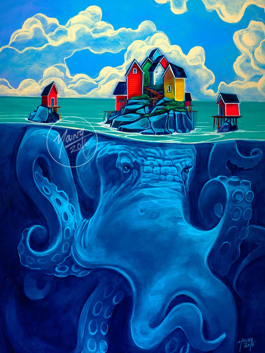 painting octopus house by adam young