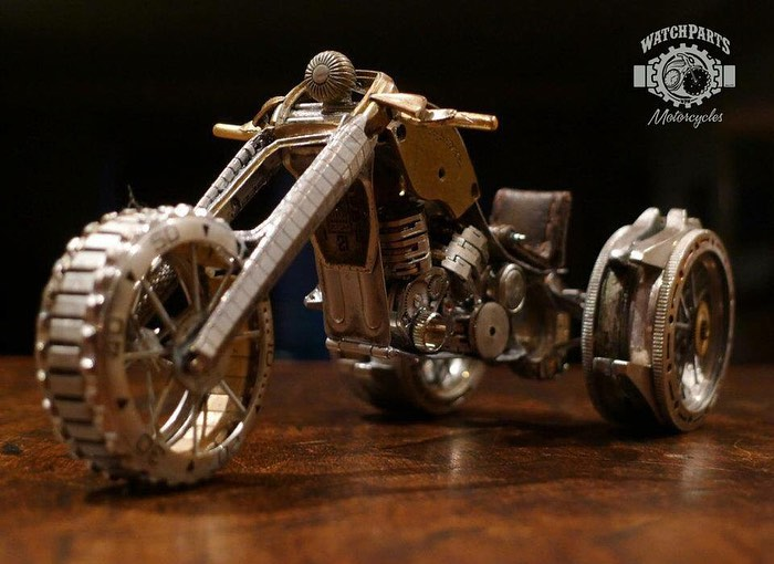 scrap sculpture old watch three wheelers by dan tanenbaum