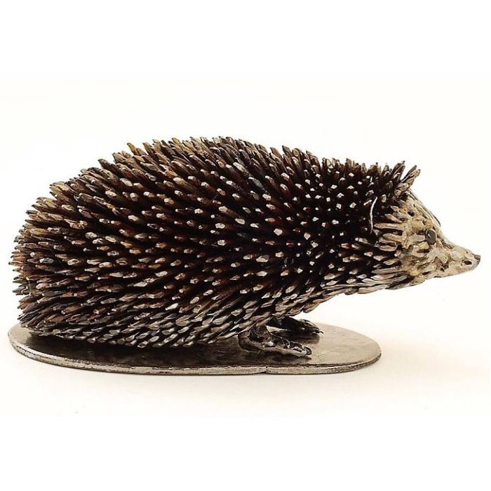 scrap sculpture porcupine by brian mock