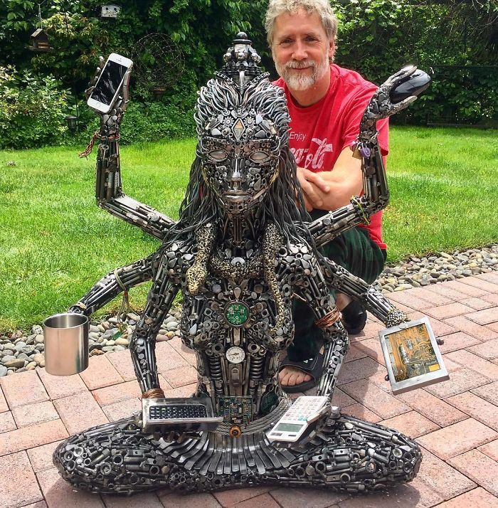 scrap sculpture gadget devi by brian mock