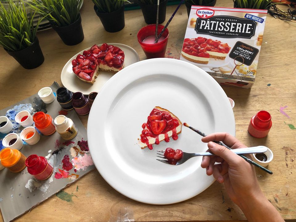 painting pie by jacqueline poirier
