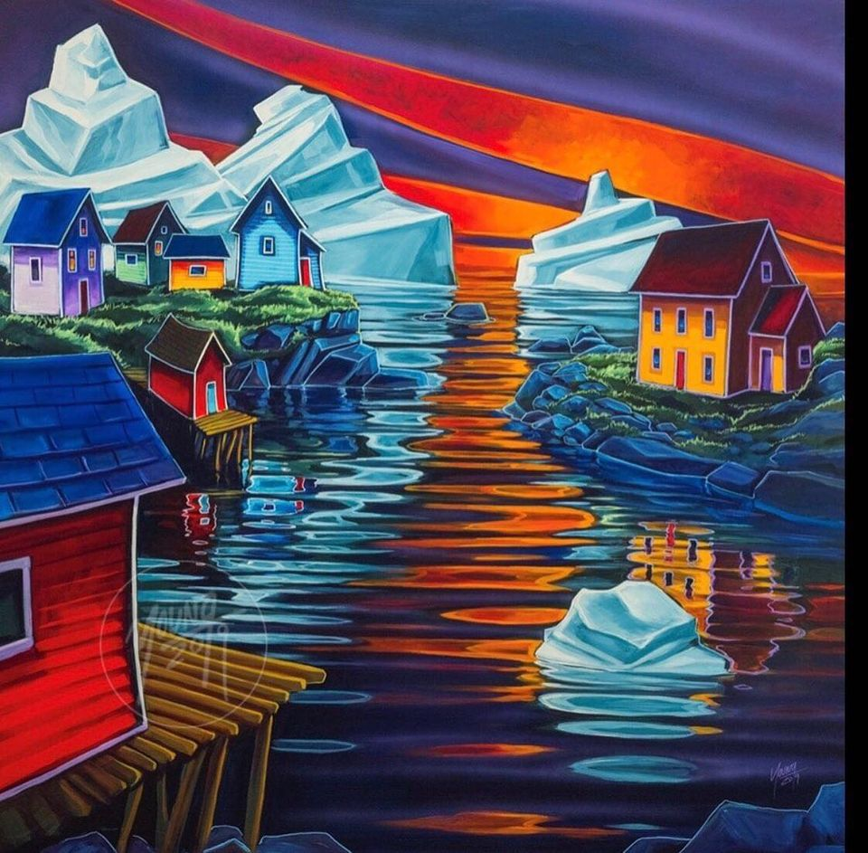 painting iceberg houses by adam young