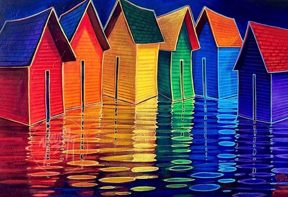 painting colorful houses by adam young
