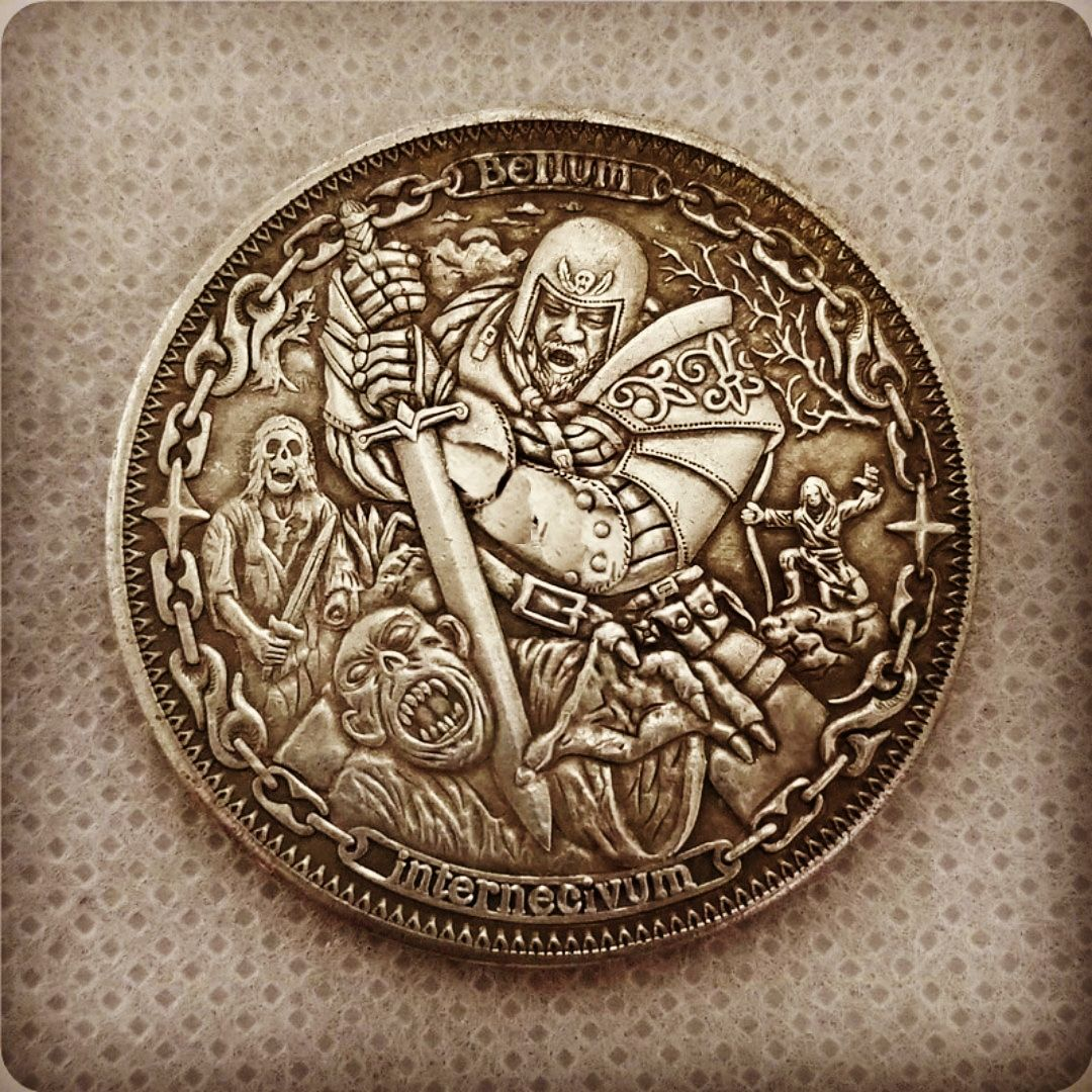 hobo nickel coin sculpture engraving bas relief