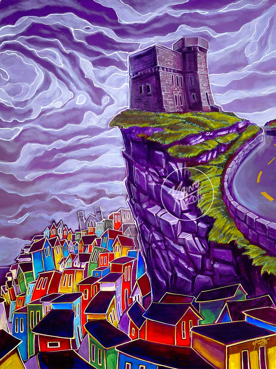 painting signal hill by adam young