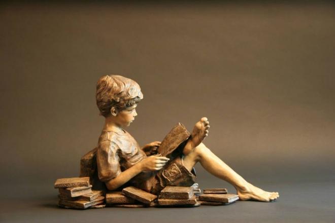 sculpture works by angela mia la vega