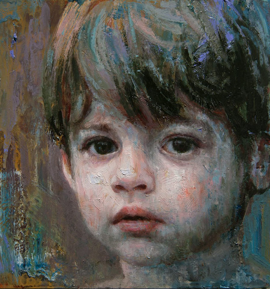 boy painting by alyssa monks