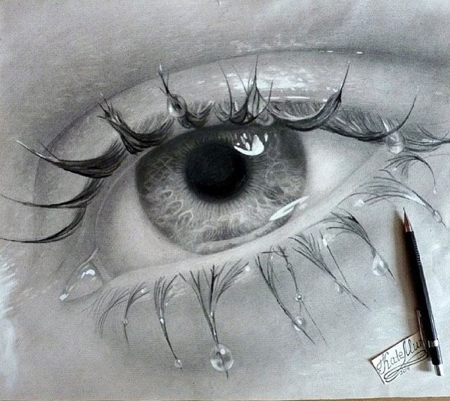 eye pencil drawing by murka
