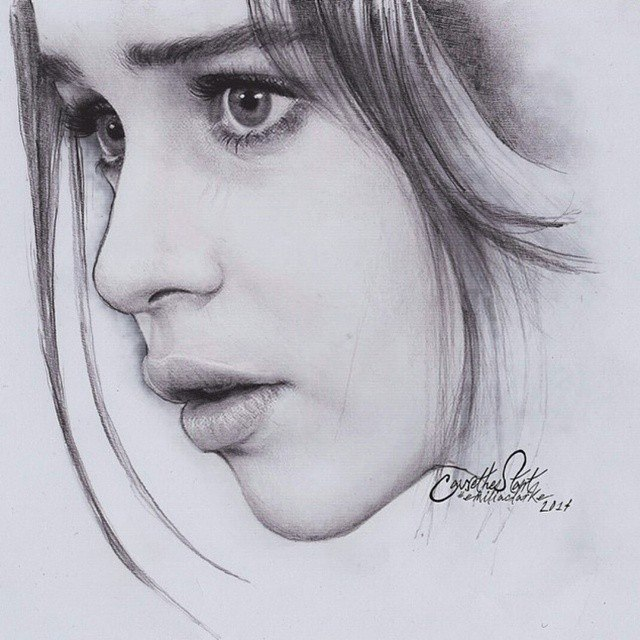girl drawing by anindi