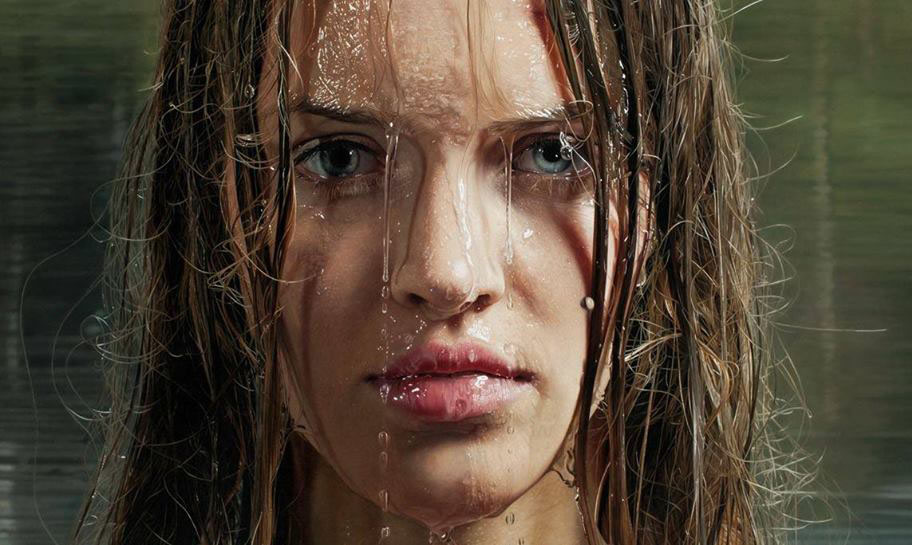 hyper realistic girl painting