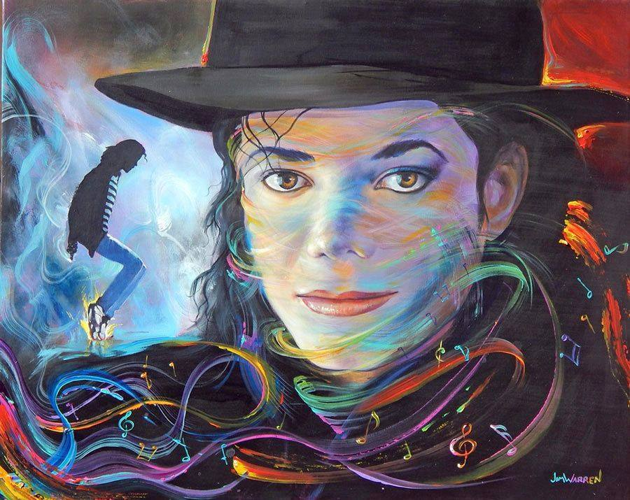 michael jackson painting by jim