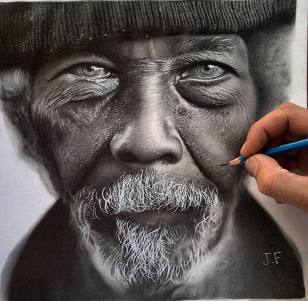 old man drawing by juliano