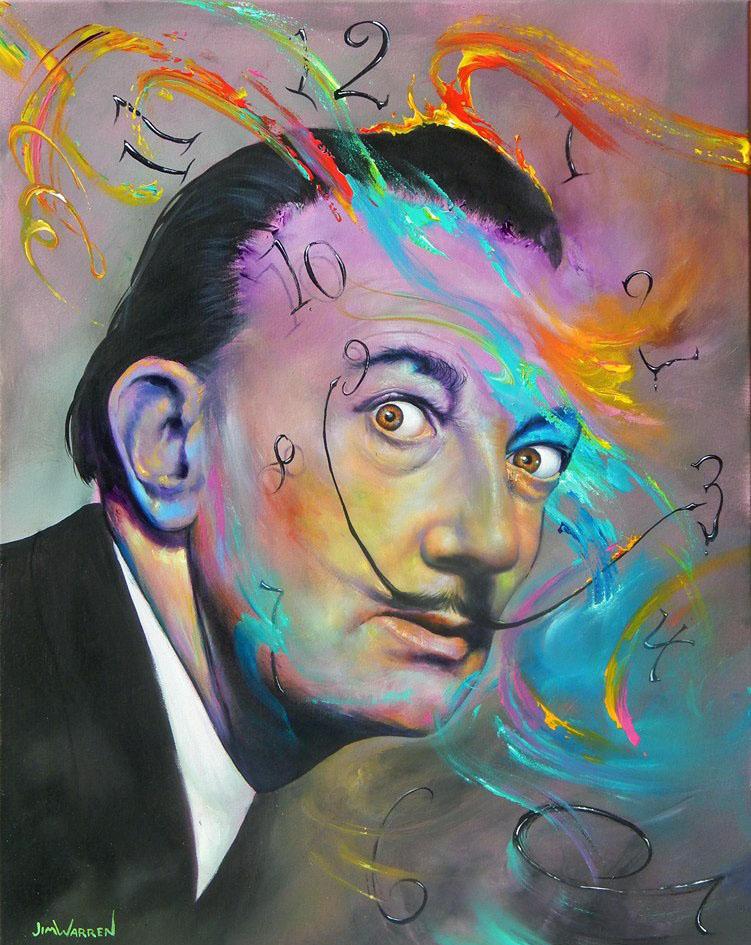 salvador dali painting by jim warren