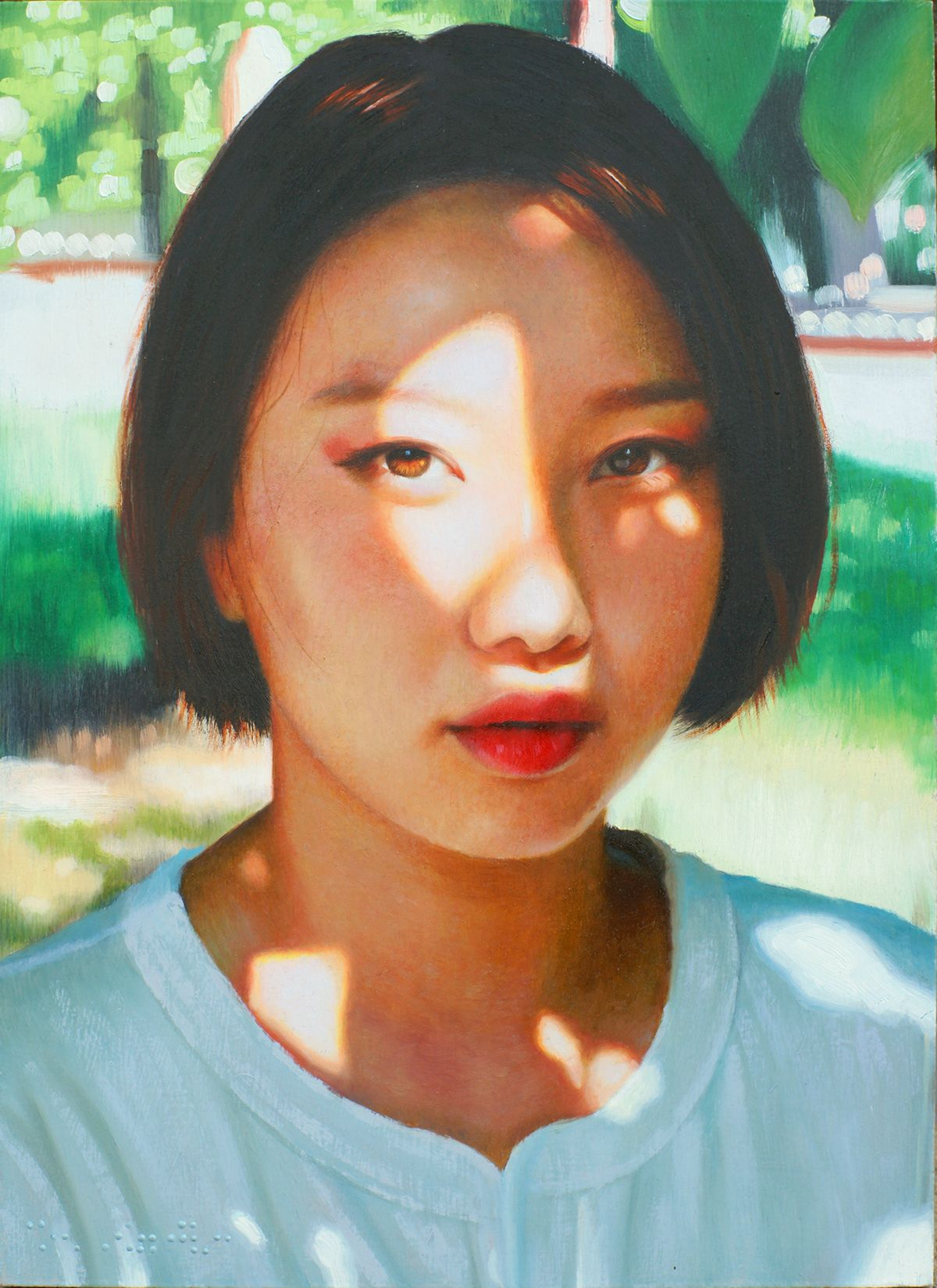 oil painting woman art by seung hwan kim