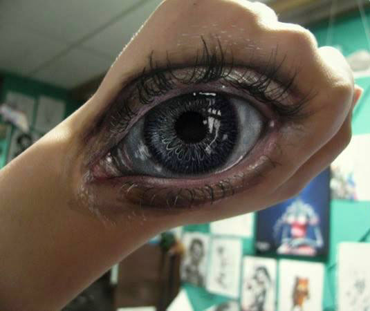 eye body painting by gimmegammi