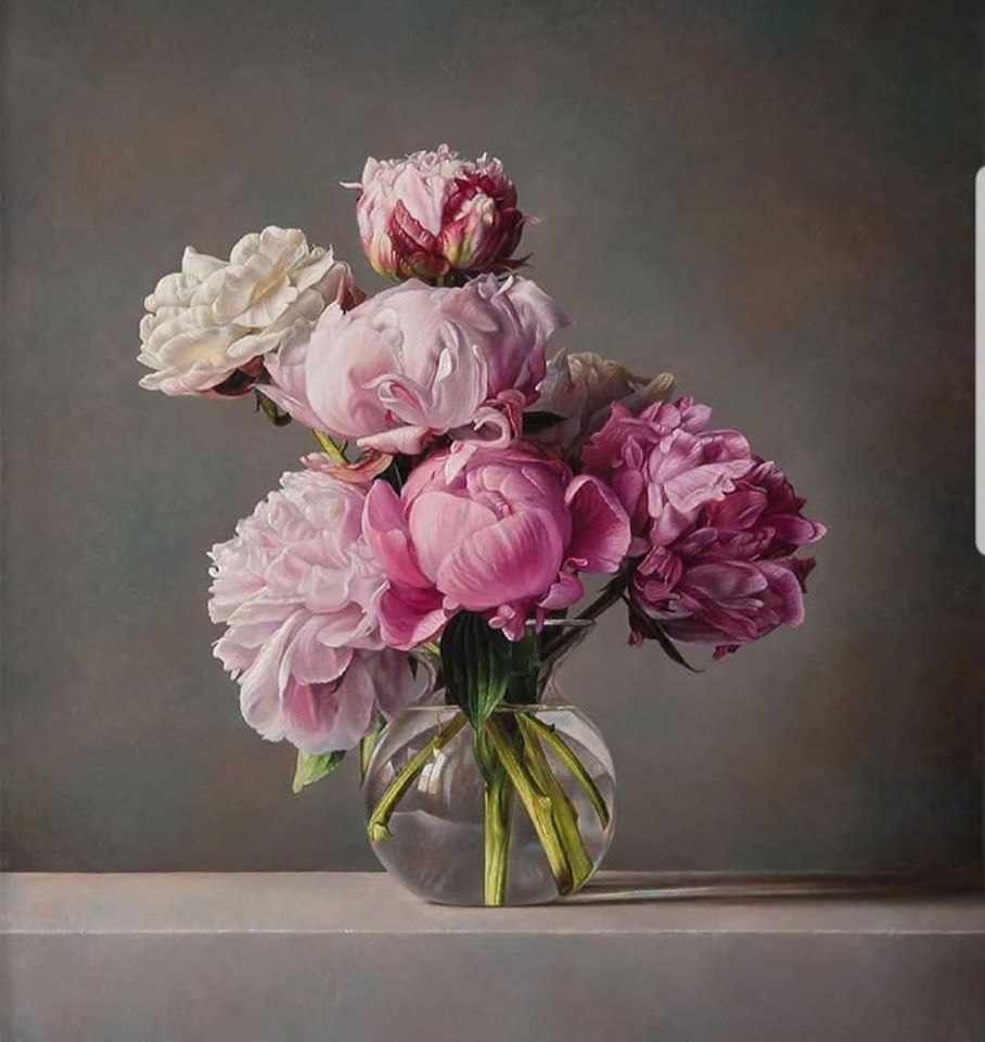 realistic painting flower by gianluca corona