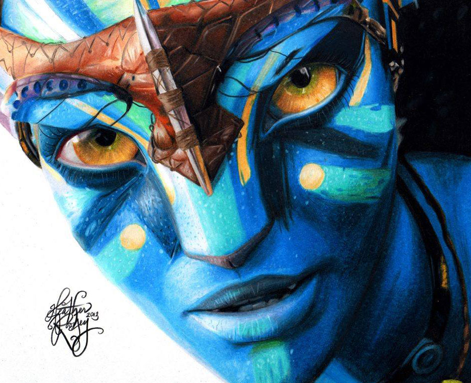 avatar color pencil drawing