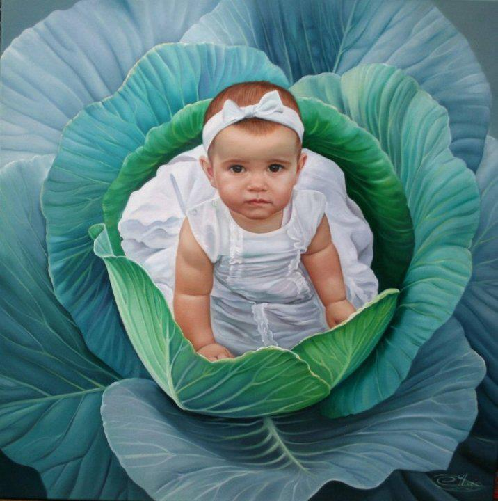 baby painting by christiane