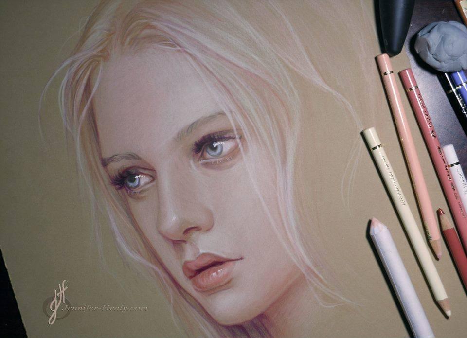 cute girl pencil drawing