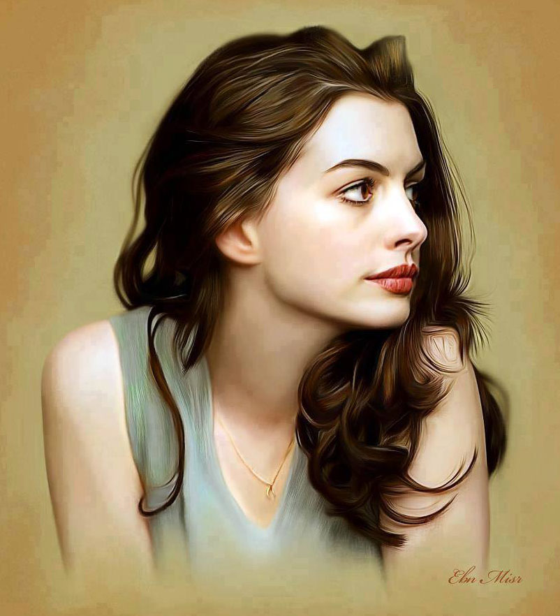 cute woman painting