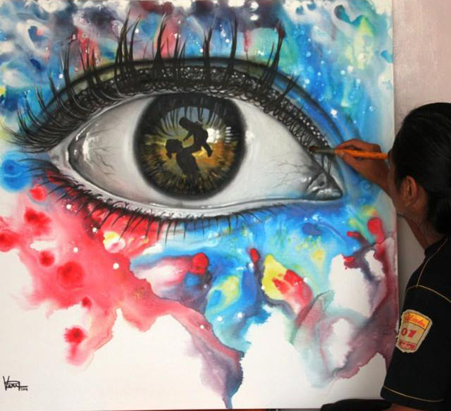 eye painting by apriyatno