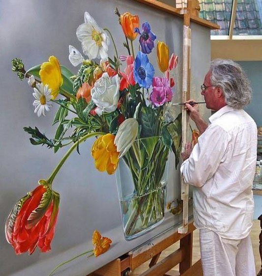 flower painting by tjalf