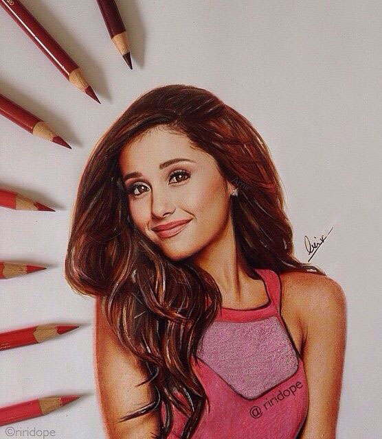 girl color pencil drawing