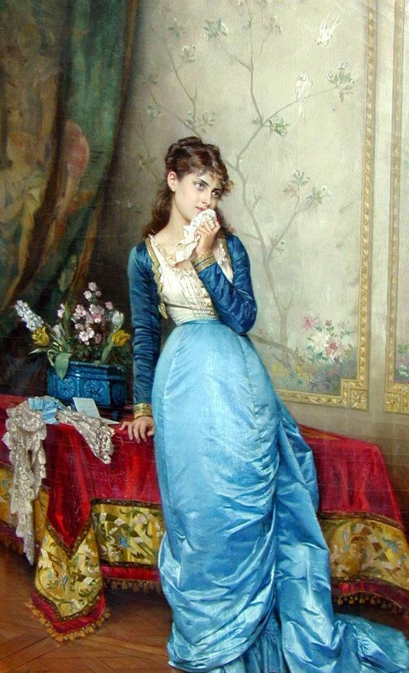 girl painting by auguste