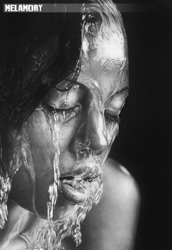 girl pencil drawing by olga