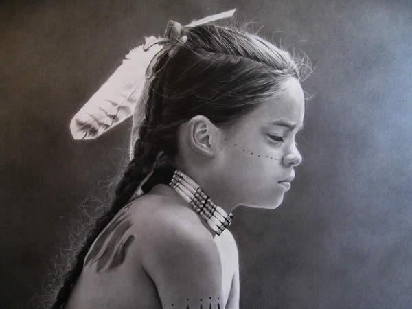 girl pencil drawing