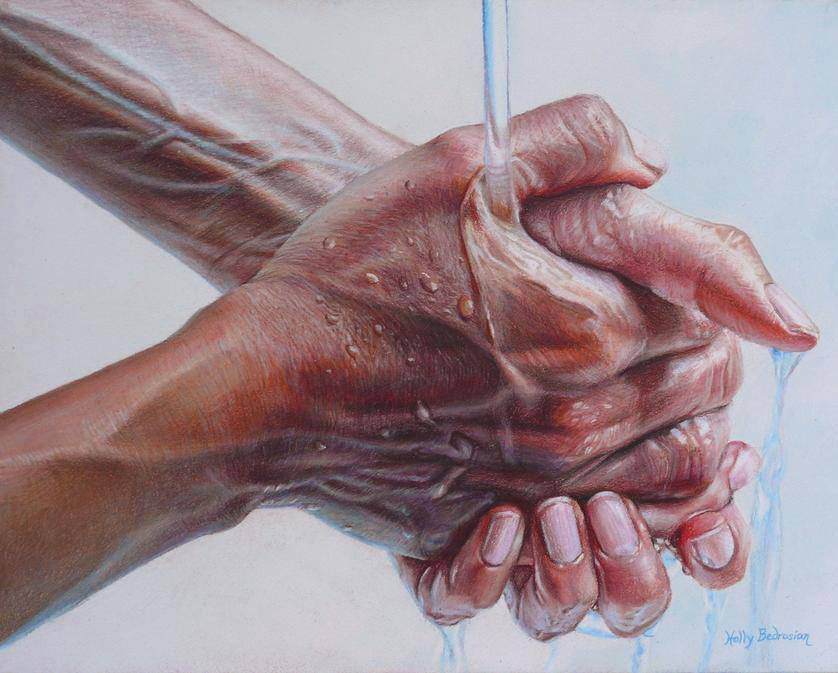 hand pencil drawing by holly