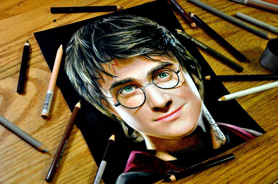 harry porter pencil drawing