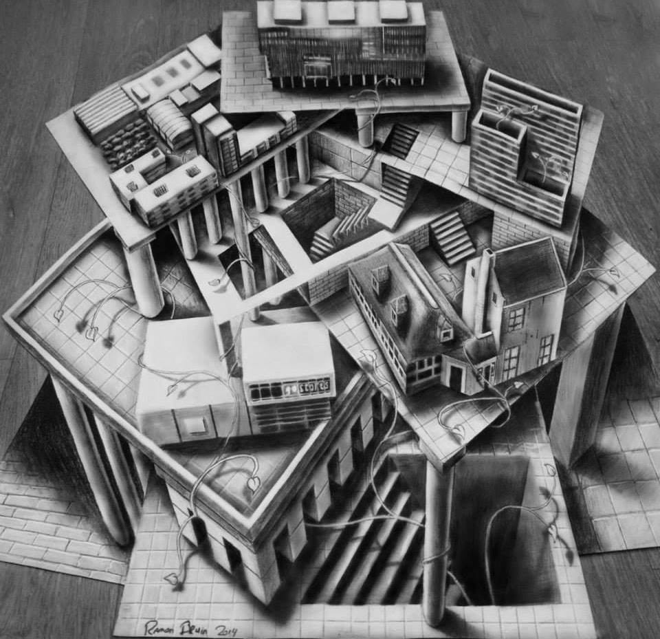 house 3d drawing by ramon