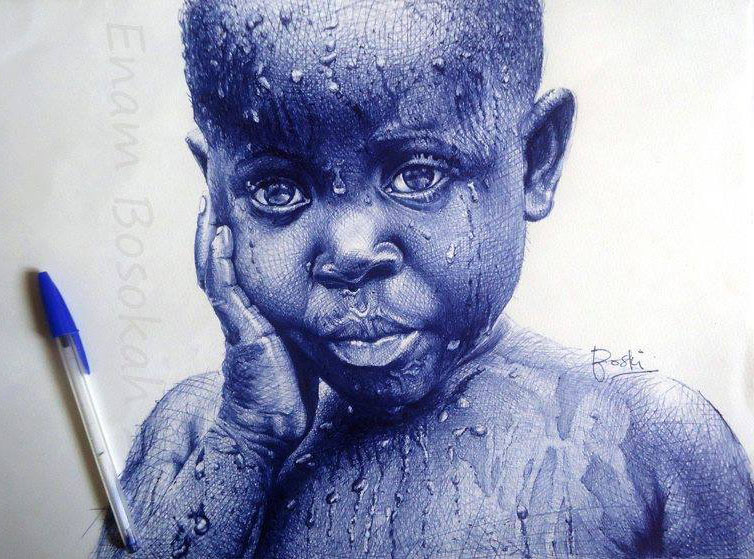 kid pen drawing by enam