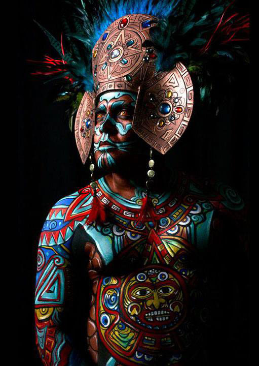 man body painting by taller