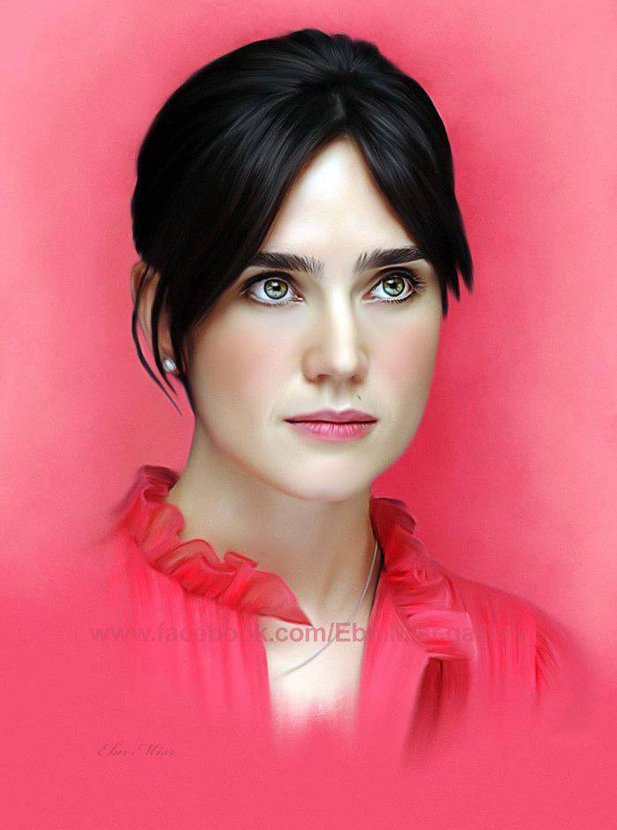 digital painting jennifer connelly by ebn