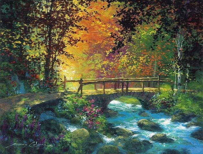 scenery water color painting