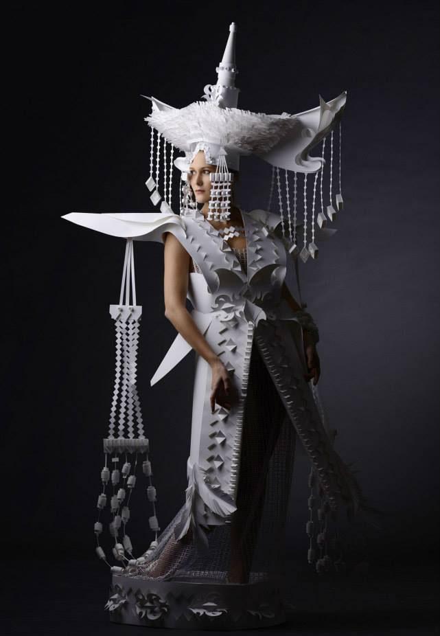 woman paper sculpture