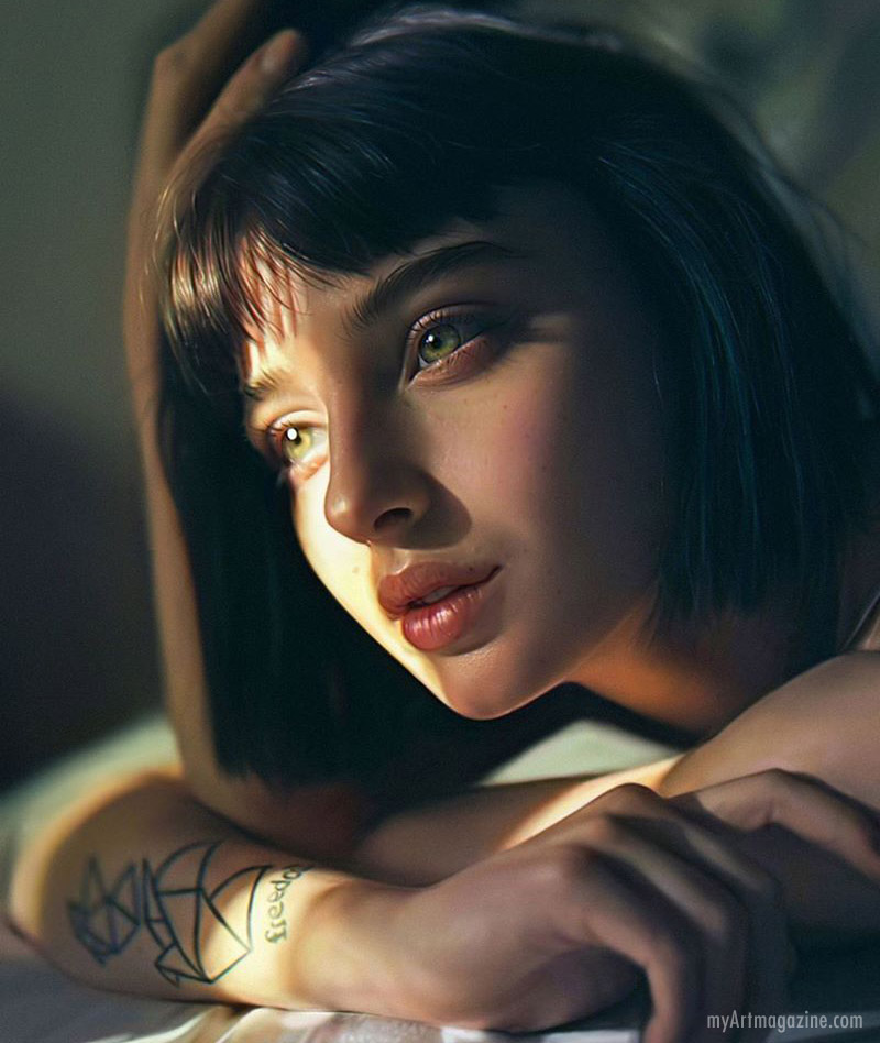 painting woman by irakli nadar