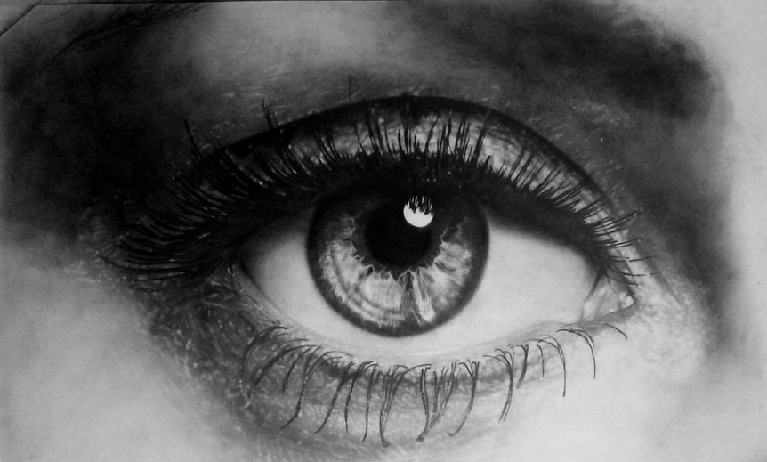 2 eyes drawings realistic eye