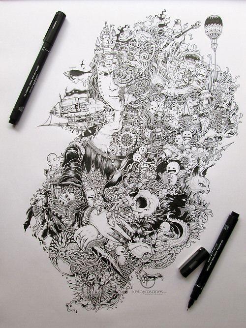 4 doodle artwork